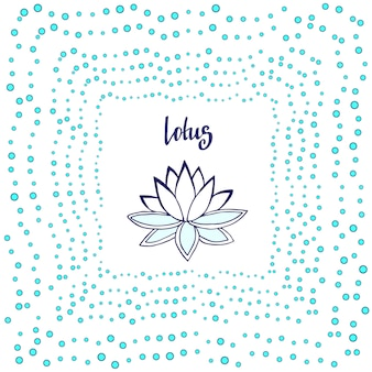 Lotus flower. cute zen vector illustration.