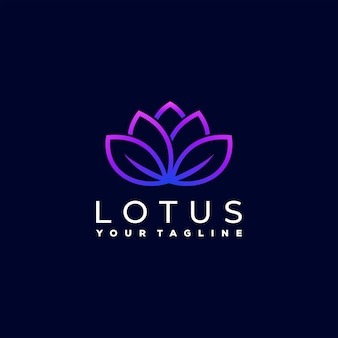 Lotus flower gradient logo design