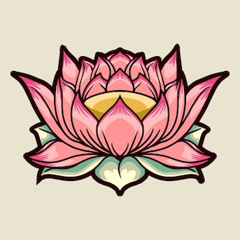 Lotus flower on light background