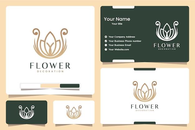 Цветок лотоса, вдохновение для дизайна логотипа