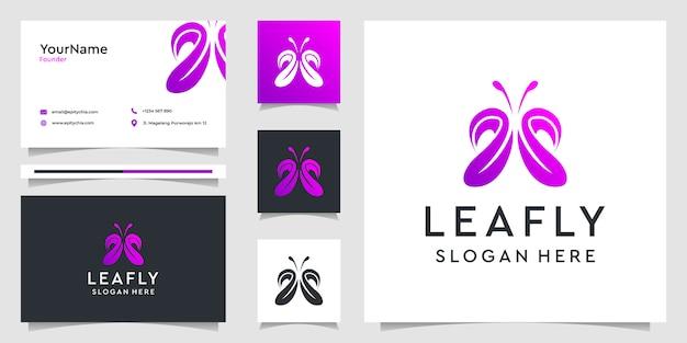 蓮の花のロゴデザインと組み合わせのスタイル。ロゴはスパ、ビューティーサロン、装飾、ブティック、名刺に使用できます。