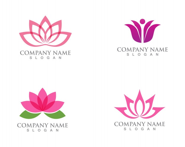 Lotus flower sign for wellness