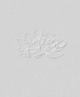 ロータスフラワーヴィンテージイラストベクトル、小川一真の原画からリミックス。