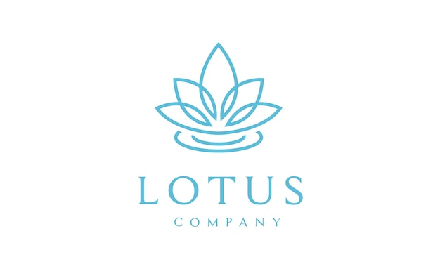 Дизайн логотипа lotus flower