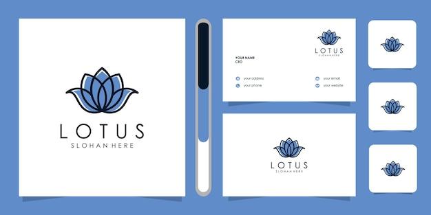 Lotus flowers design logo template
