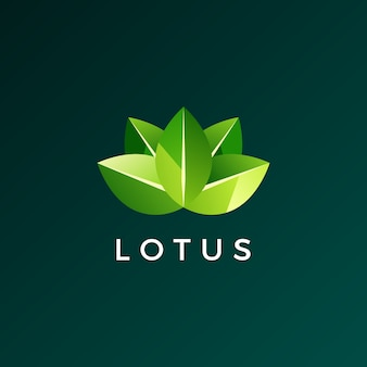 Lotus leaf logo icon illustration