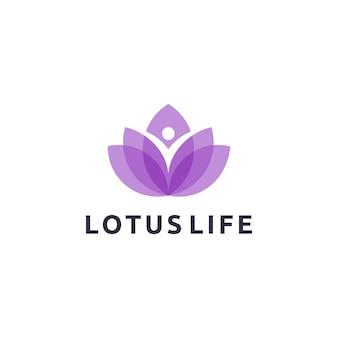Lotus life logo design