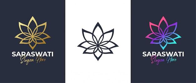 Lotus line art logo design