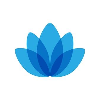 Значок стиля линии лотоса, векторный логотип лотоса