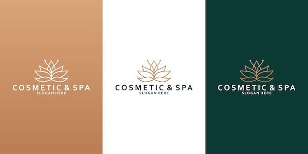 Дизайн логотипа лотоса для вашего бизнес-спа, курорта, йоги