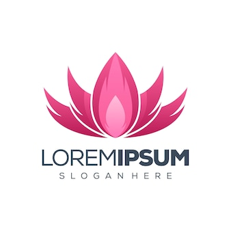 Lotus logo design illustration