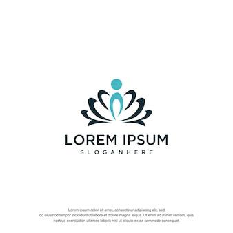 Лотос дизайн логотипа templete