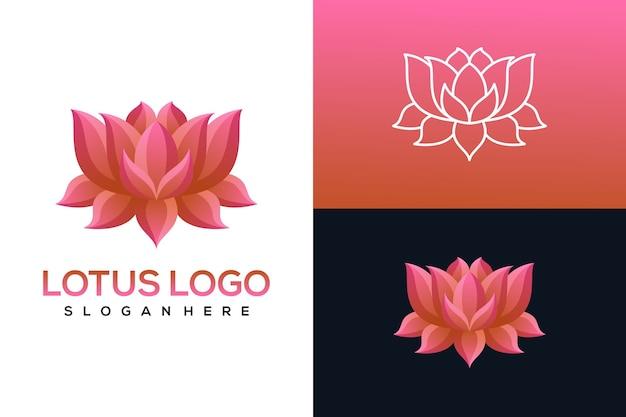 Набор логотипов лотоса