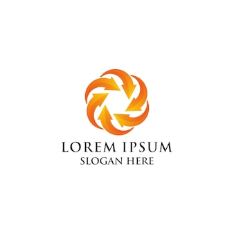 Lotus nature colorful logo
