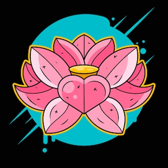 Lotus printing on t-shirt, fabric, mugs and souvenirs. rainbow, acid, lsd, dmt, meditation, psychedelic, narcotic, nature flowers pattern 60s trippy dreamy lotos tattoo