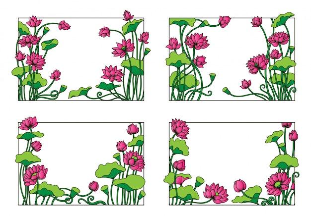 Lotus rectangle frame set