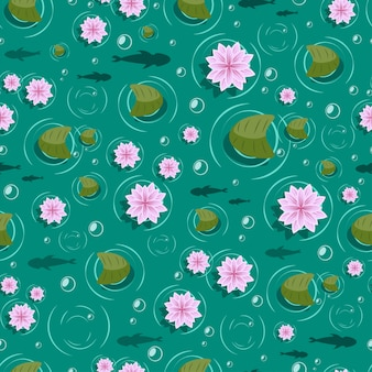Lotus seamless pattern.