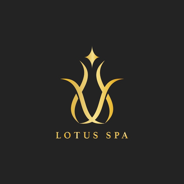 Lotus spa design logo vector