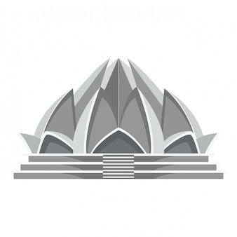 Lotus temple architecture