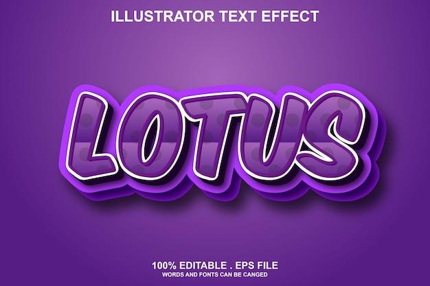 Текстовый эффект лотоса редактируемый