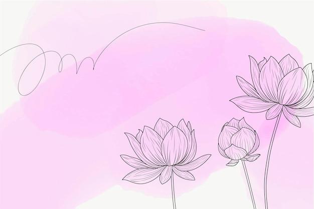 연꽃 수채화 배경