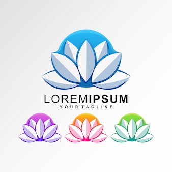 Шаблон логотипа lotus