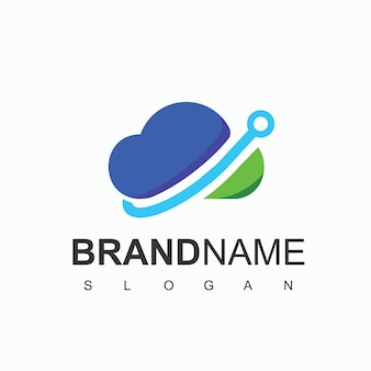 Loud logo with technology symbol