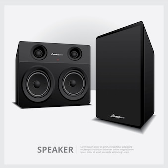 Loud speakers isolated template