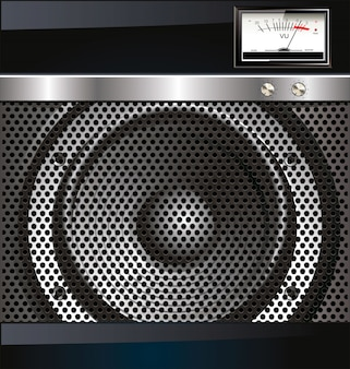 Loudspeaker grill background