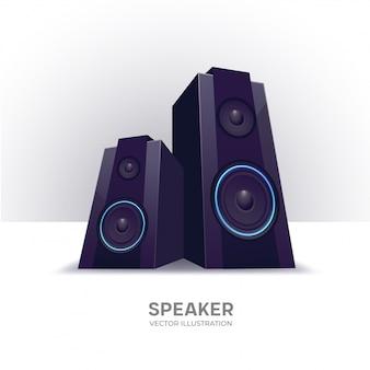 Loudspeakers分離ベクトルイラスト