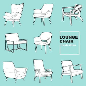 Lounge chair illustrations