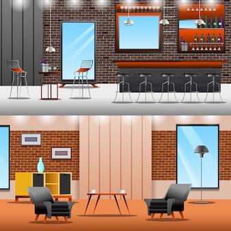 Lounge loft banners коллекция