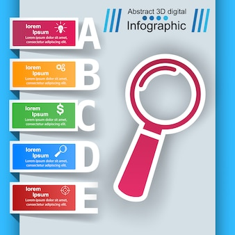 Loupe, search ibusiness nfographic