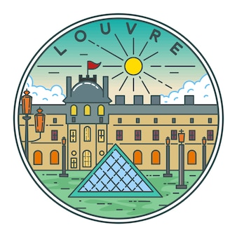 Louvre monoline badge