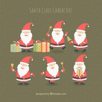 Lovable символов набор санта-клауса с различными подарками