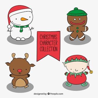 Lovable рисованной символов рождества