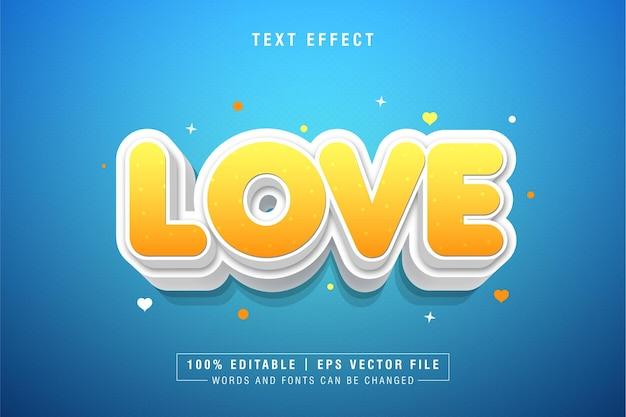 3d 텍스트 스타일 효과 사랑