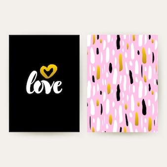 80년대 펑키 스타일 포스터를 사랑하세요. 필기체 글자와 트렌디한 패턴 디자인의 벡터 일러스트 레이 션.