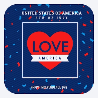 Люблю америку празднование фон