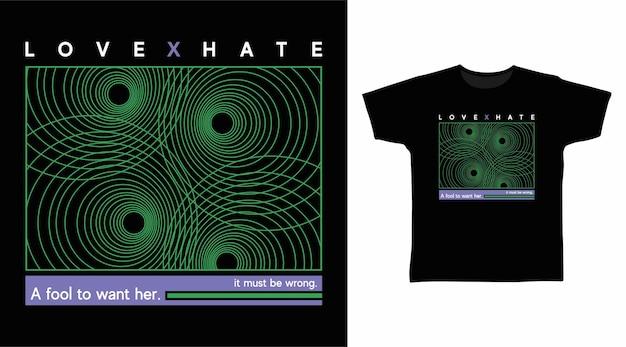 Любовь и ненависть круг абстрактное искусство дизайн футболки