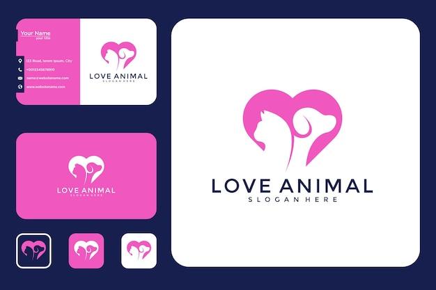 Love animal logo design and business card