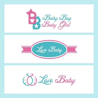 Love baby collection vector design