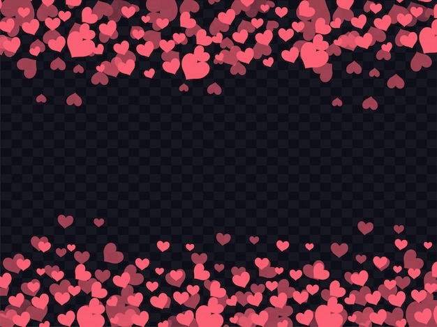 Love background decorated with red hearts.