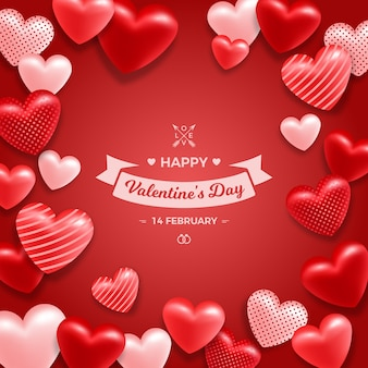 Love background for happy valentines day