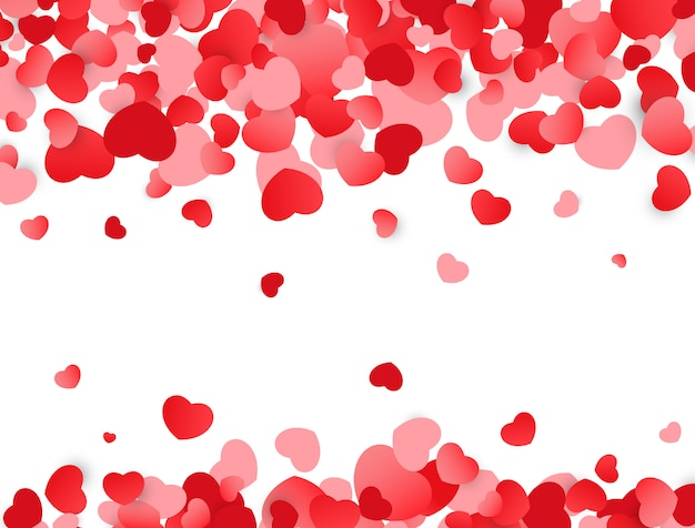 Love background. valentines day texture with red hearts.