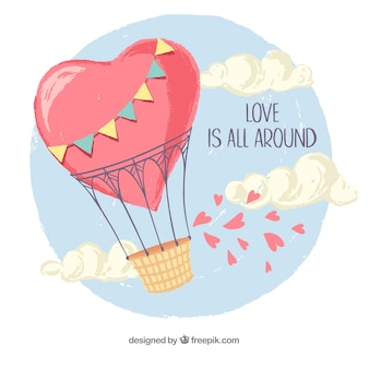Love background with balloon