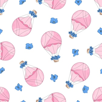 Love balloon valentine's seamless pattern