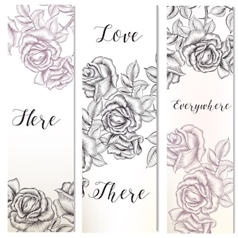 Love banners collection
