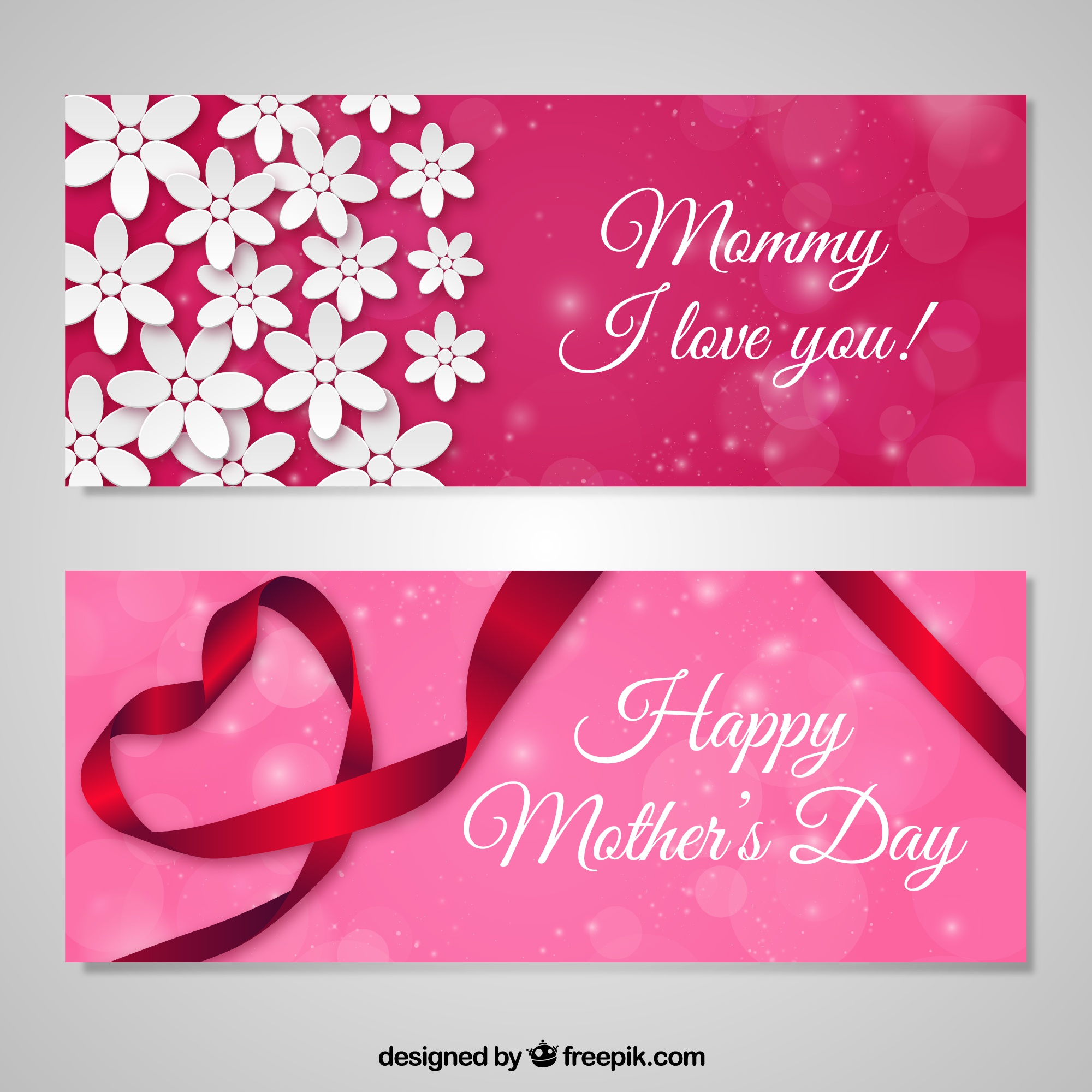 Love banners happy mothers day
