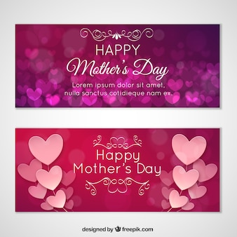 Love banners, mothers day